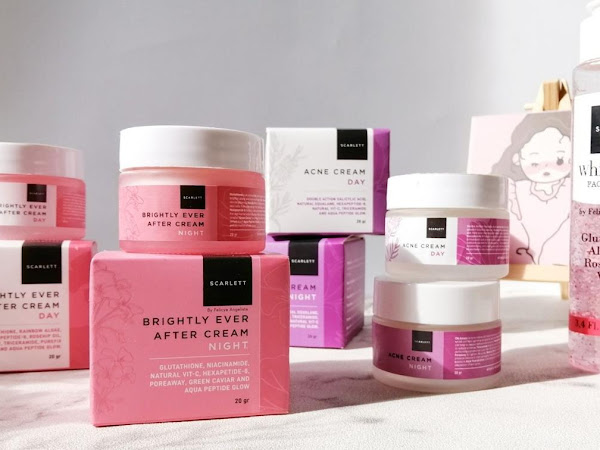 Review Scarlett Cream : Brightly Ever After & Acne Series