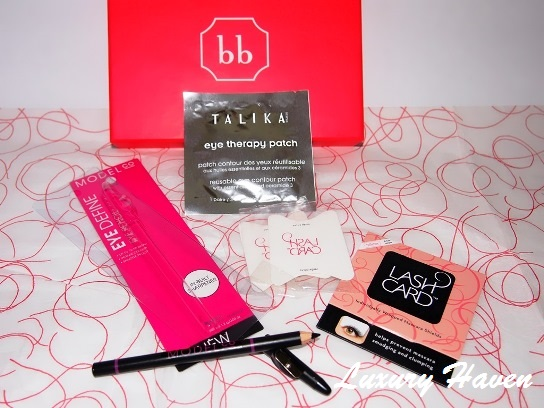 bellabox talika model co eye pencil lash card