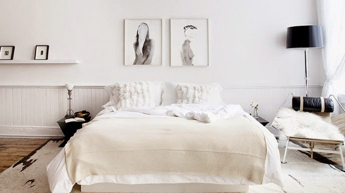 decoration chambre blanc