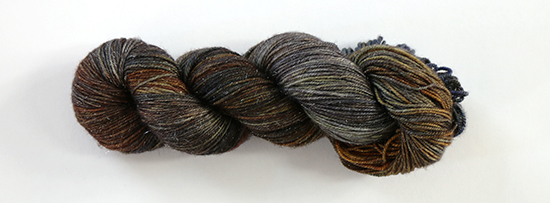 Skein of Zen Yarn Garden Serenity Glitter Sock in the colorway Ooak Armada