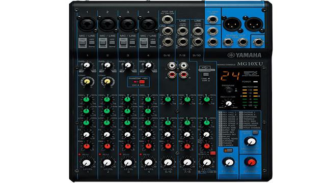 Spesifikasi Mixer Yamaha MG10XU 10-Channel dengan Efek