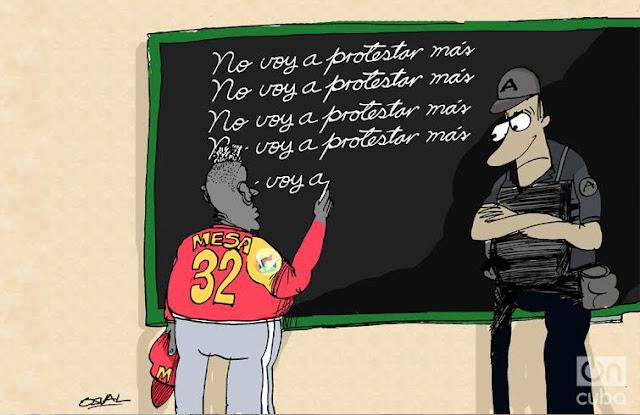La caricatura de Víctor Mesa, Por: Osvaldo Gutiérrez Gómez (Osval)