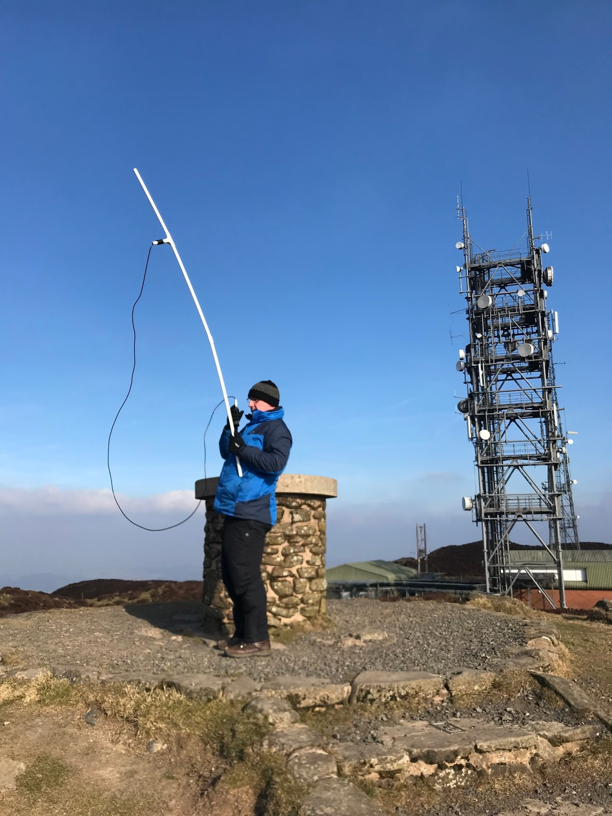 M0PLA/P on 24th February 2018. Brown Clee Hill SOTA Activation visit.