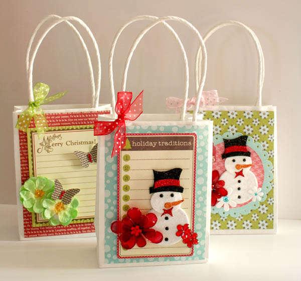 9 ideas espectaculares para hacer lindas bolsas de regalo - Bolsas para decorar ...
