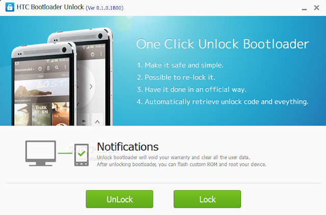 All HTC One Click Boot Loader Unlock Tool Free Download