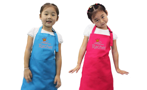 Apron with perosnalized name embroidery
