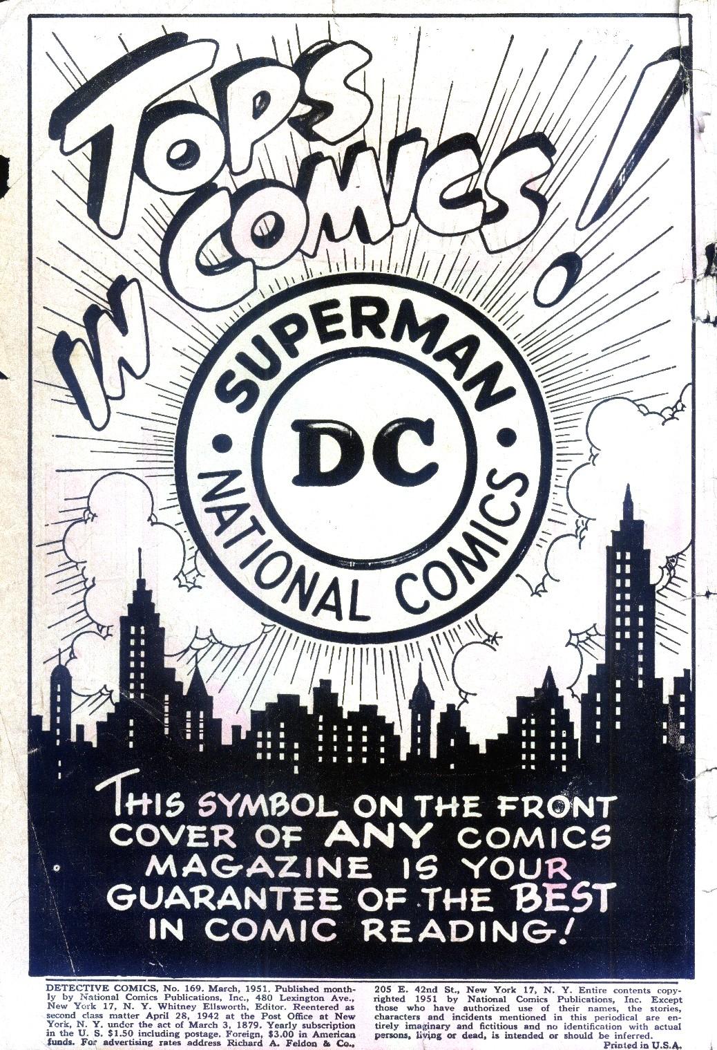 Read online Detective Comics (1937) comic -  Issue #169 - 2