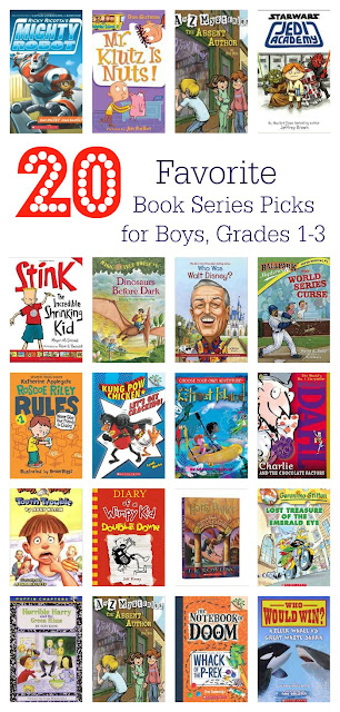 20 Book Series Recommendations for Boys, Grades 1-3 || The Chirping Moms