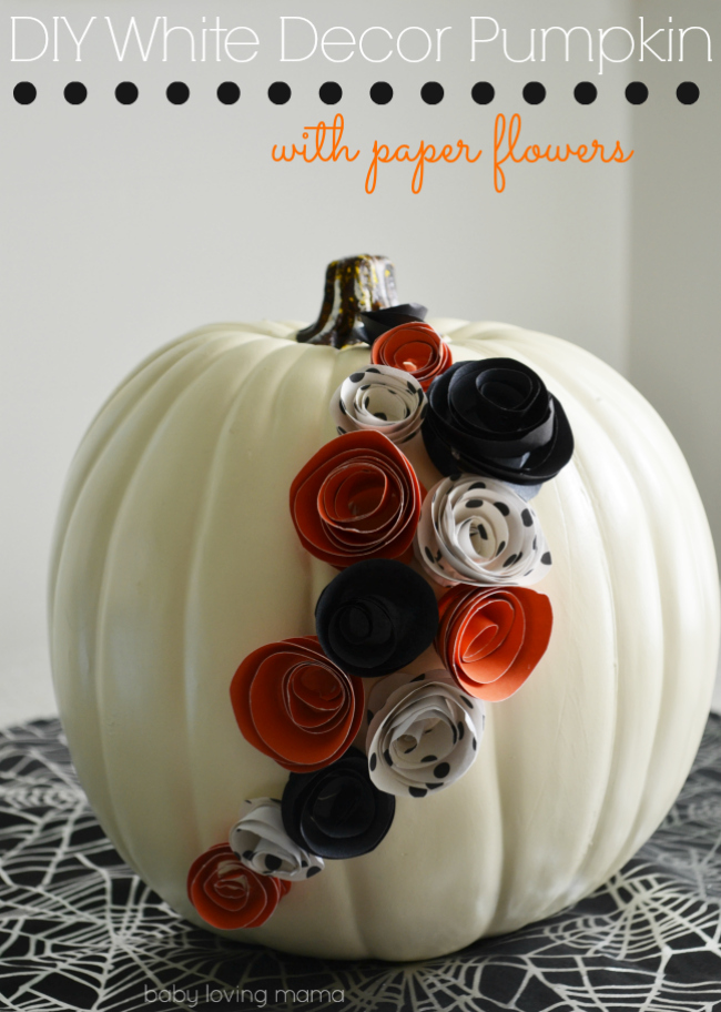 Paper Flower Pumpkins from Baby Loving Mama