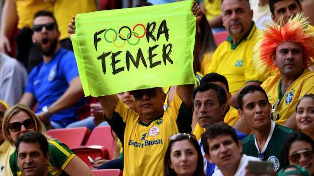 Las protestas de Brasil llegarán a la inauguración de los Juegos Olímpicos de Río 2016
