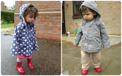 Children wearing red wellingtons