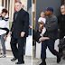 The Wests step out for the first time after Kim's robbery incident (Photos)