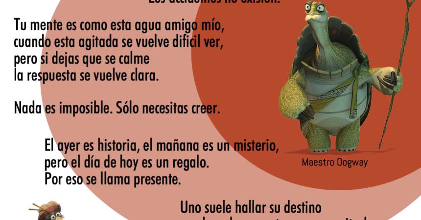Nahun Frett 8 Frases De La Película Kung Fu Panda