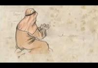 Dua eden bir Arap gösteren çizim