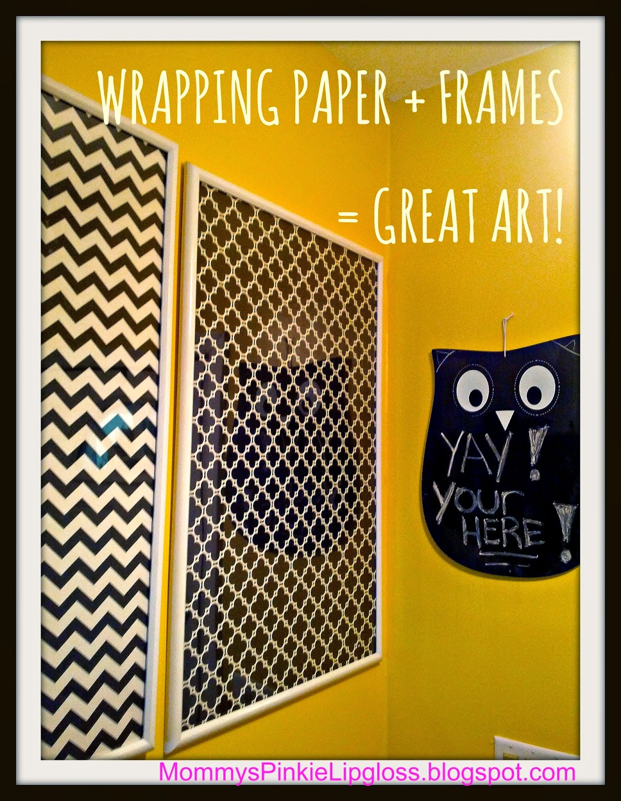 Wrapping Paper wall art, cheap & easy wall art