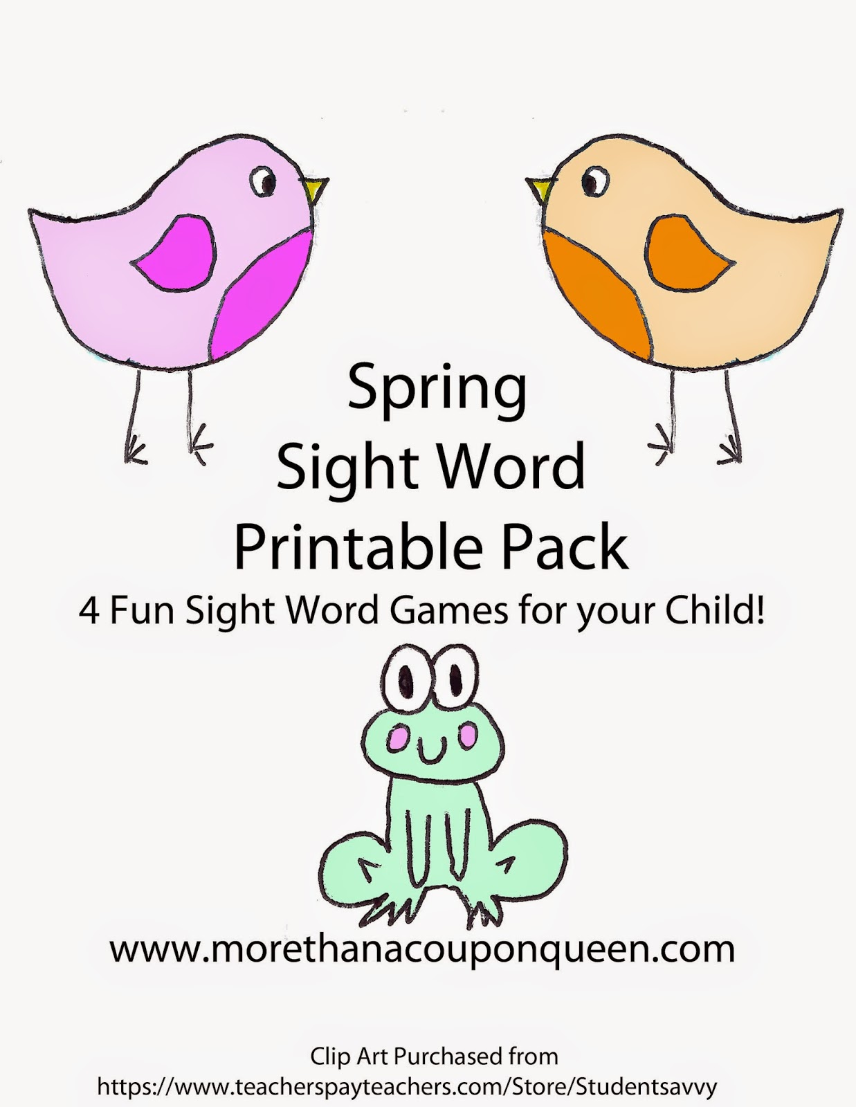 Free Sight Word Games Printable Pack