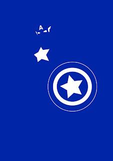 cartel minimalista  de super héroe Capitan America
