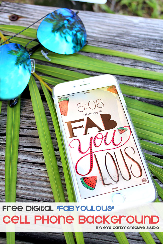 cell phone background, fabYOUlous digital wallpaper, hand lettering