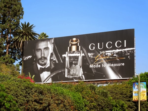 James Franco Gucci Made to Measure fragrance billboard