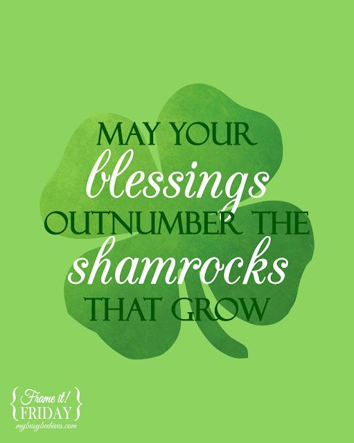 St. Patrick's Day printable.
