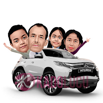 Karikatur Lucu Group Keluarga