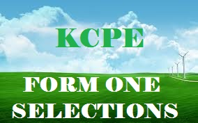 FORM ONE SELECTION 2017