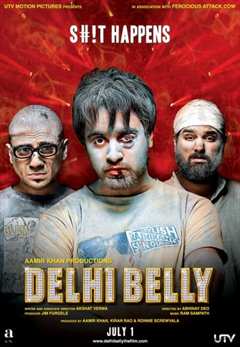 Delhi Belly (2011) Worldfree4u - Hindi Movie 720p DVDRip 750MB - Khatrimaza