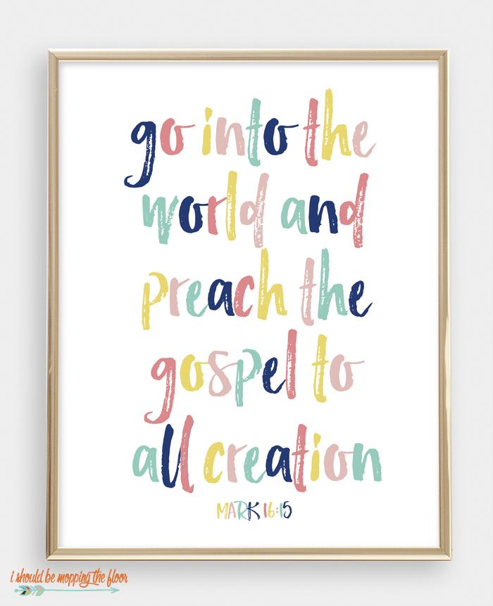 Mark 16:15 Printable