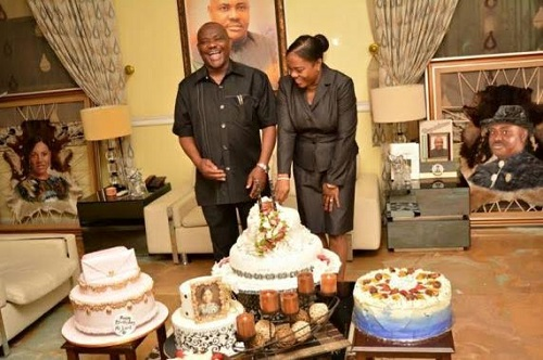 governor wike of rivers state wife celebrates her birthday
