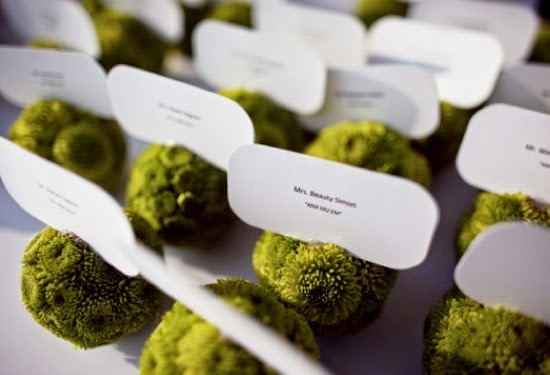 Place Card Holders and Place Settings at the Wedding Breakfast