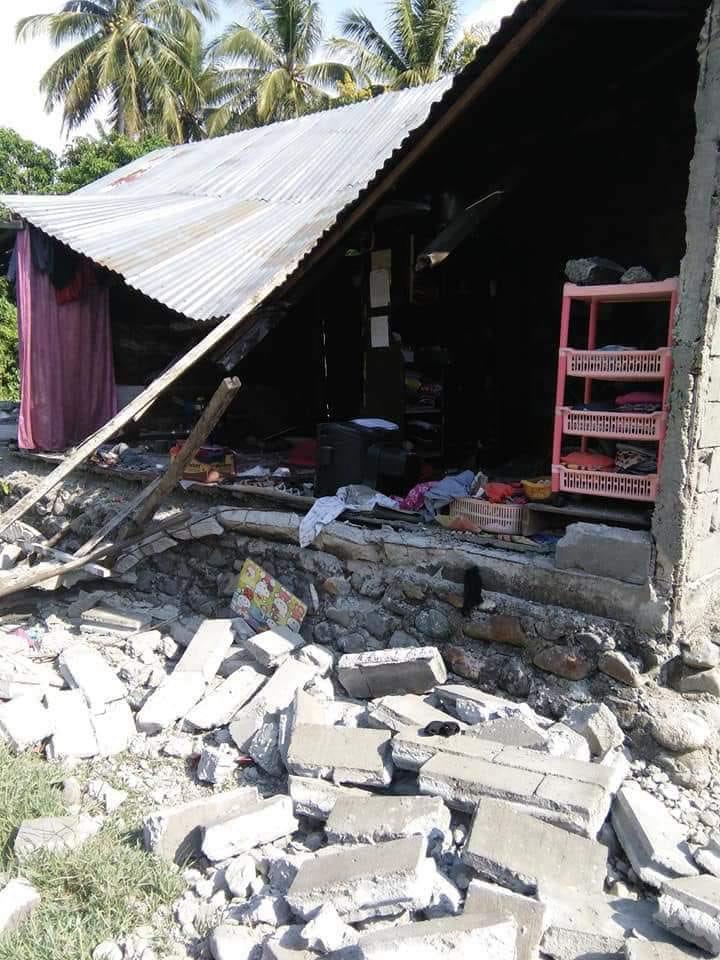 Doakan, Terjadi Gempa di Sulawesi Tenggara Rumah Roboh