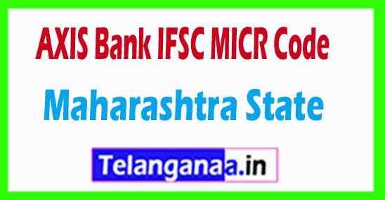 AXIS BANK IFSC MICR Code Maharashtra State