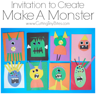 halloween paper monster craft for kids