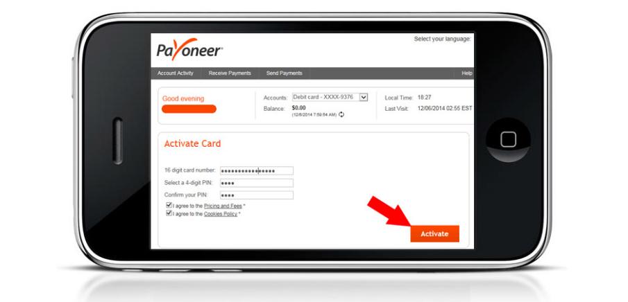 how to make payoneer account