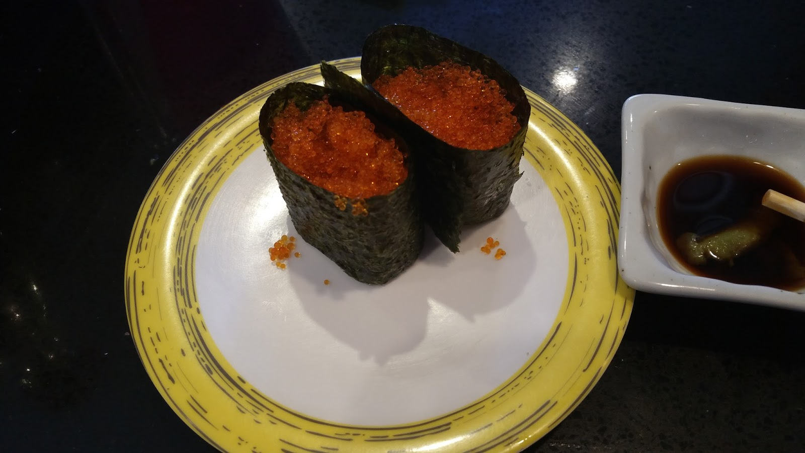 Espresso matcha ren sushi underwood for Flying fish egg
