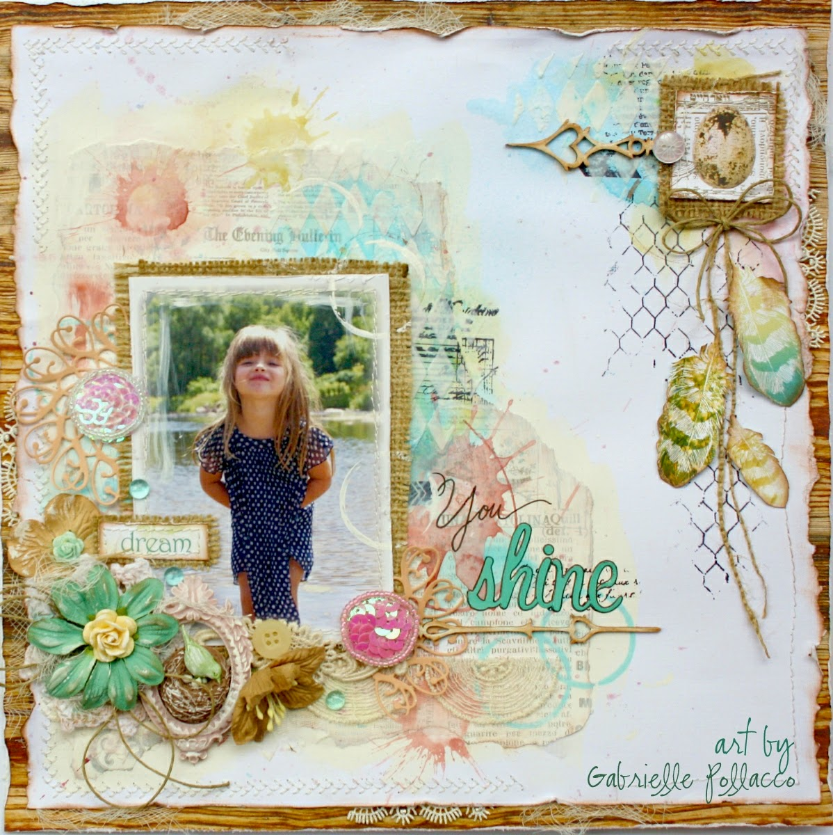 You_Shine_Layout_Scrapbook_Gabrielle_Pollacco_Websters_Pages