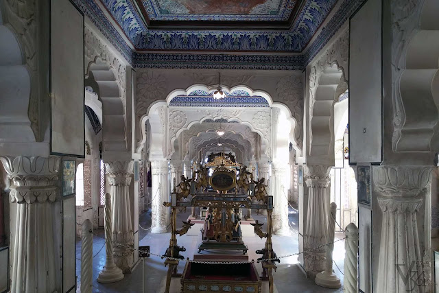 Jhanki Mahal, where the royal Cradles and Jhulas are kept