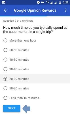 survey question 2