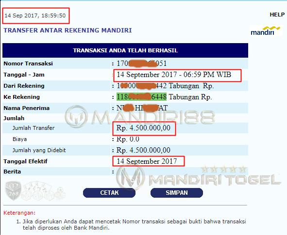Slip Pembayaran Jackpot Mix Parlay Bpk Nxr Hixxxat di mandiri88
