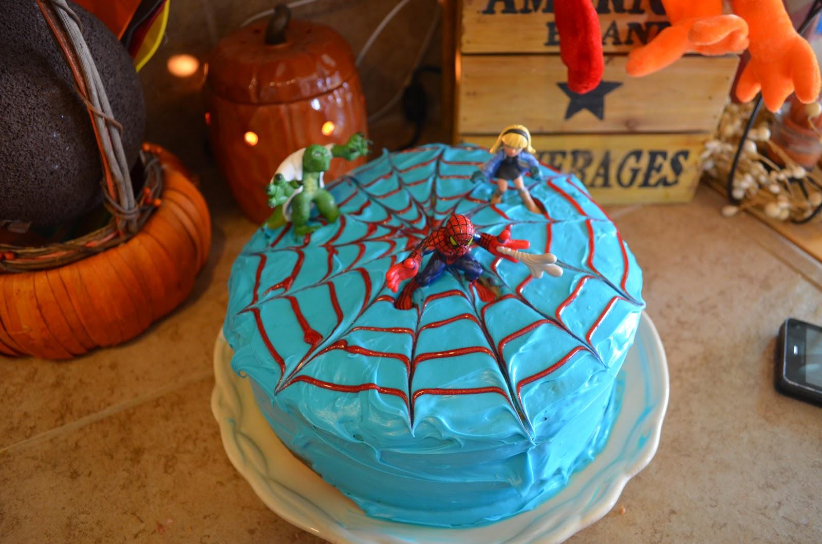 Crafty Mom Of 3 Diy Easy Spiderman Cake