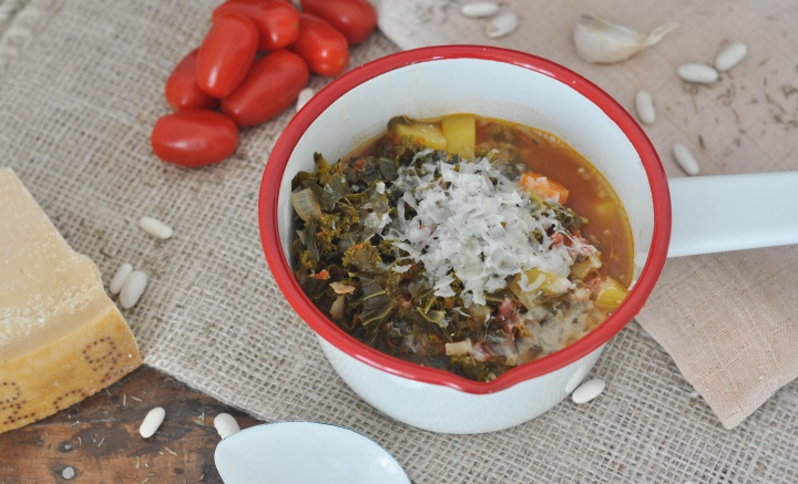 Ribollita with kale, gluten free and oh-so good!