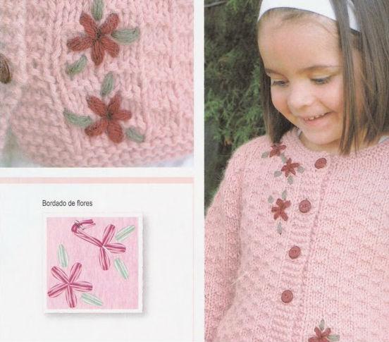 Diseño de flor para bordar