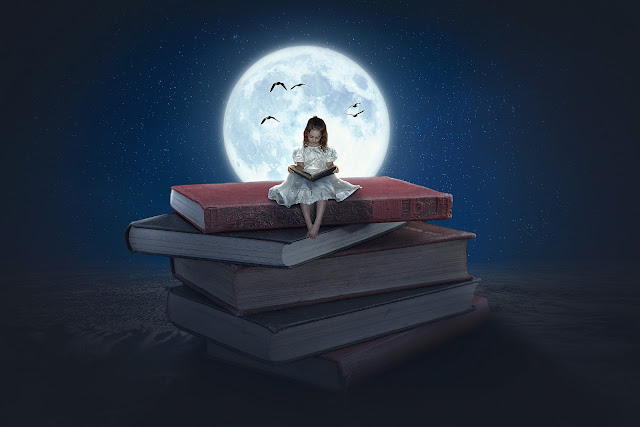 Moonlight - Photo Manipulation Tutorial - Reading Book