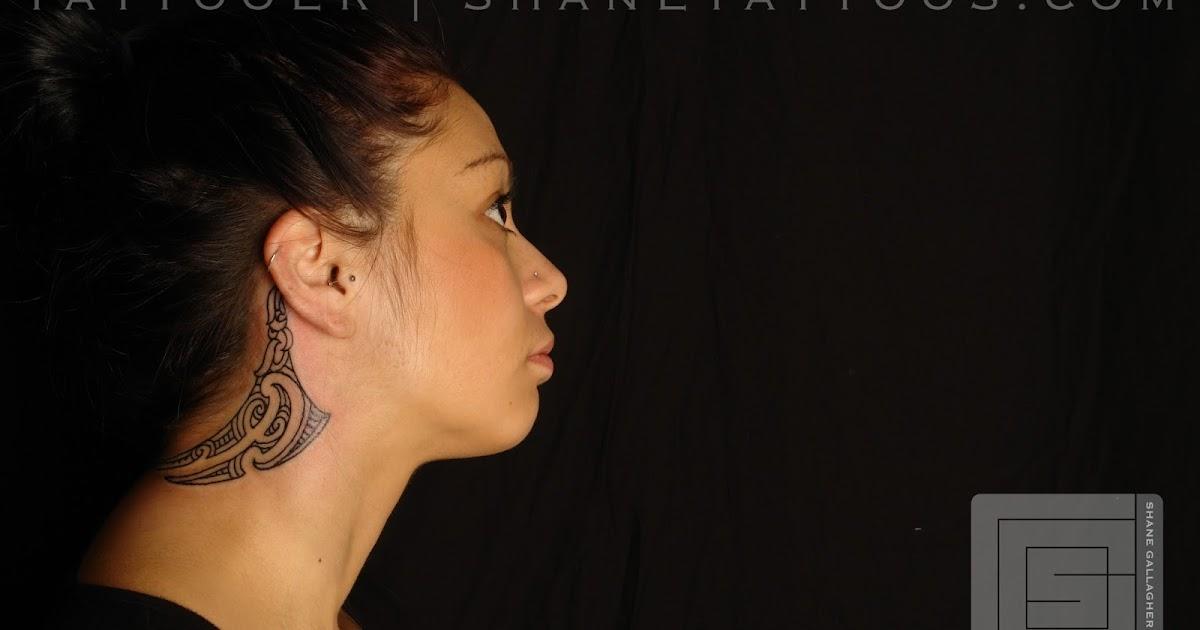 MAORI POLYNESIAN TATTOO: Maori Neck Tattoo/Ta Moko On Lena
