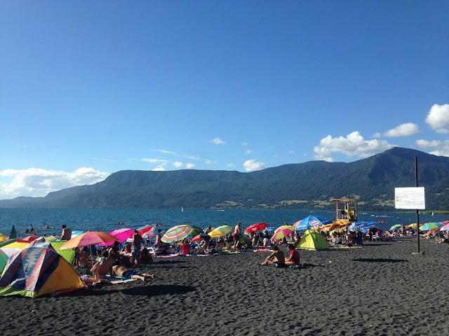 Playa Grande em Pucón