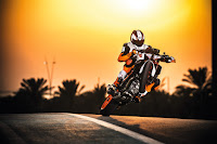 Powerslide Wheelie on a KTM