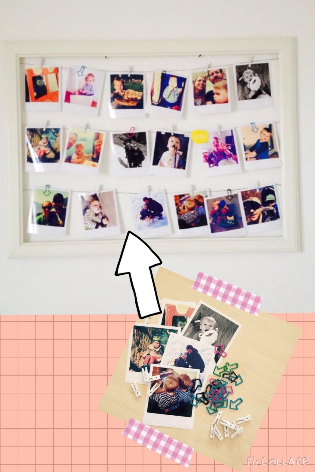 DIY: Bilderrahmen mit Polaroids