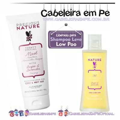 Linha Precious Nature Oil Uva e Lavanda - Alfaparf (Máscara e Leave in liberados para Low Poo)