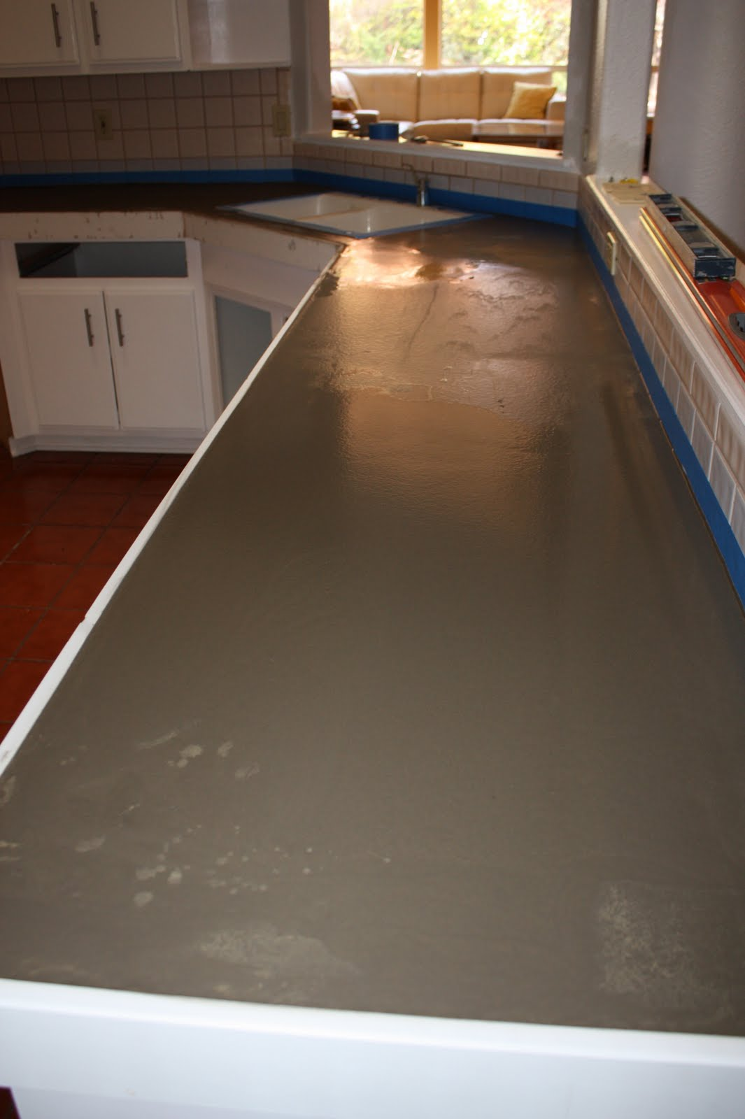 Quick Install Of Concrete Countertops! Kitchen Remodel