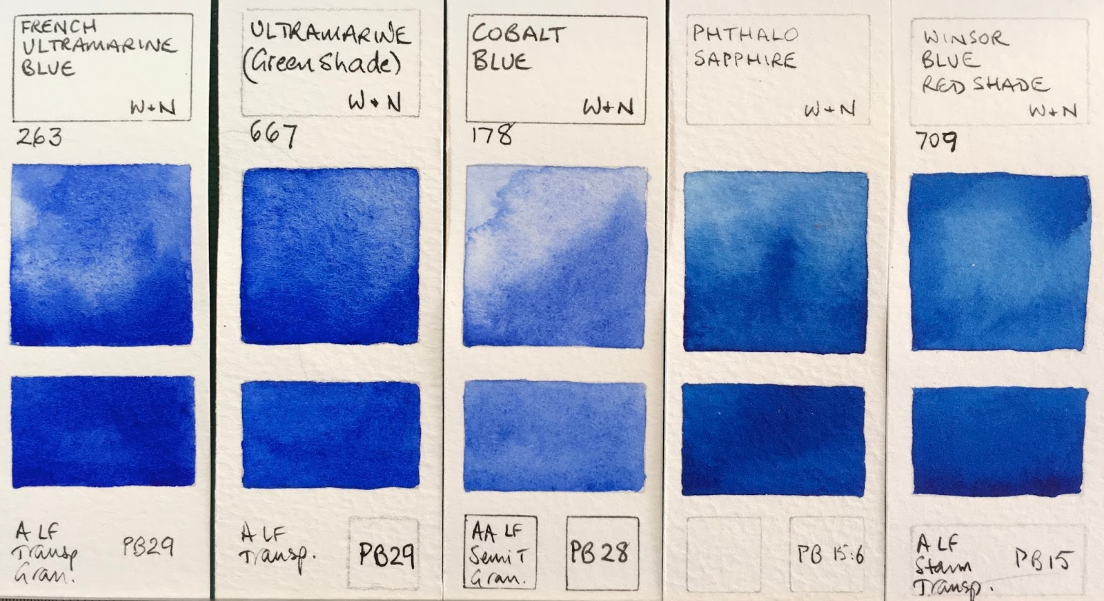 Winsor  newton watercolours french ultramarine green shade cobalt blue phthalo sapphire red also jane blundell artist full range rh janeblundellartspot
